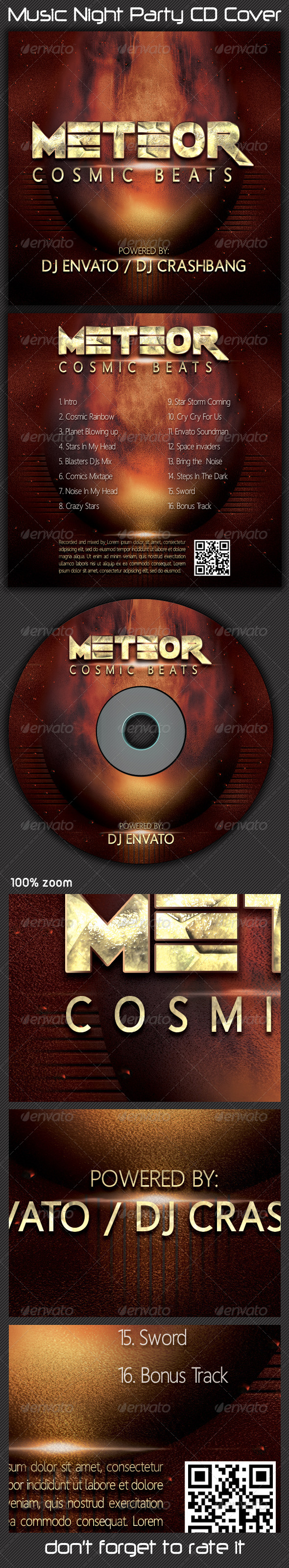 GraphicRiver Music Night Party CD Cover 5560808