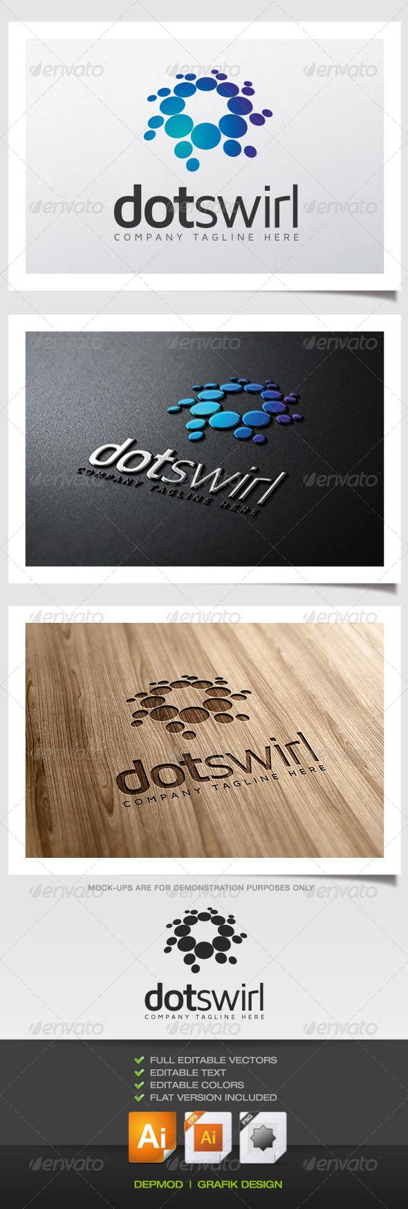 GraphicRiver Dot Swirl Logo 5560926