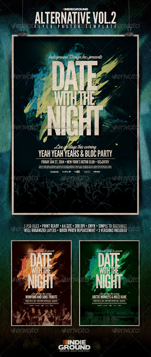 Alternative Flyer/Poster Vol. 2 - Clubs & Parties Events