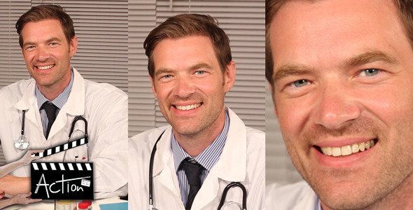 VideoHive Doctor In Office Smilling 5561082