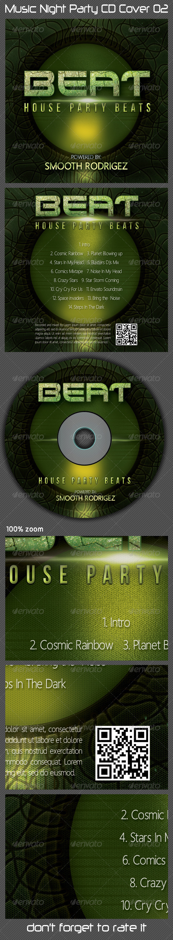 GraphicRiver Music Night Party CD Cover 02 5561211