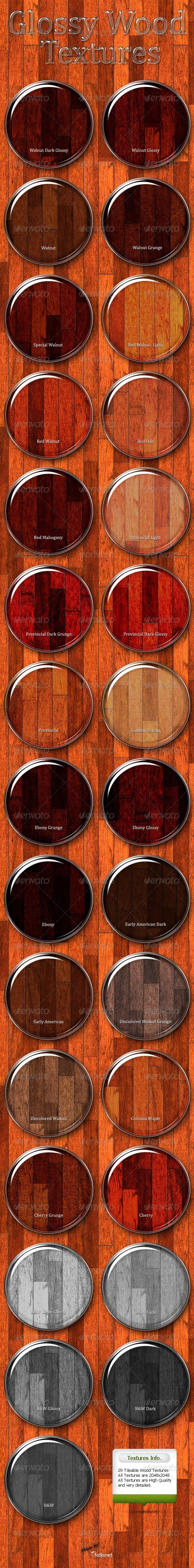 Glossy Wood Textures - 3DOcean Item for Sale