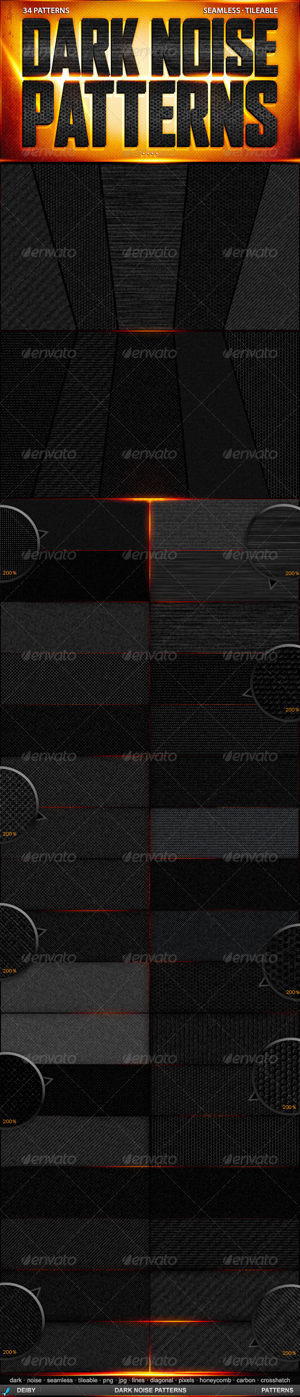 Dark Noise Patterns - Urban Textures / Fills / Patterns