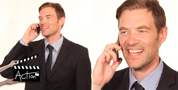 VideoHive Businessman With Mobile 5561488