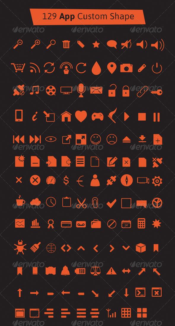 GraphicRiver 129 App Custom Shape Icons 5561576