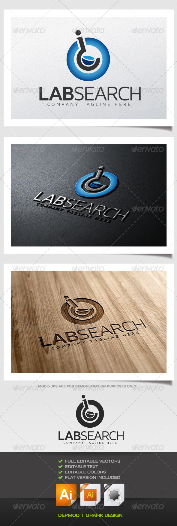 Lab Search Logo - Symbols Logo Templates