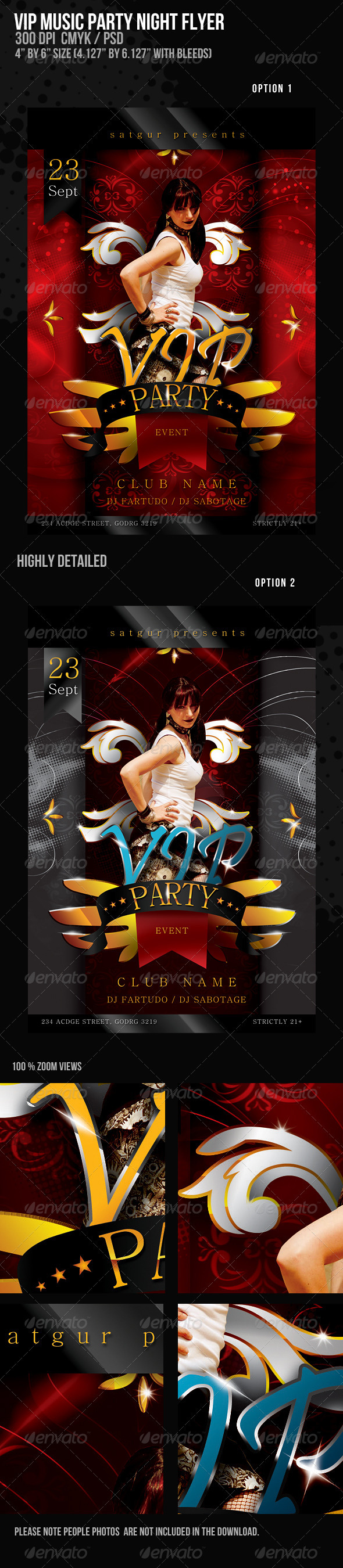 VIP Music Party Night Flyer - Clubs & Parties Events