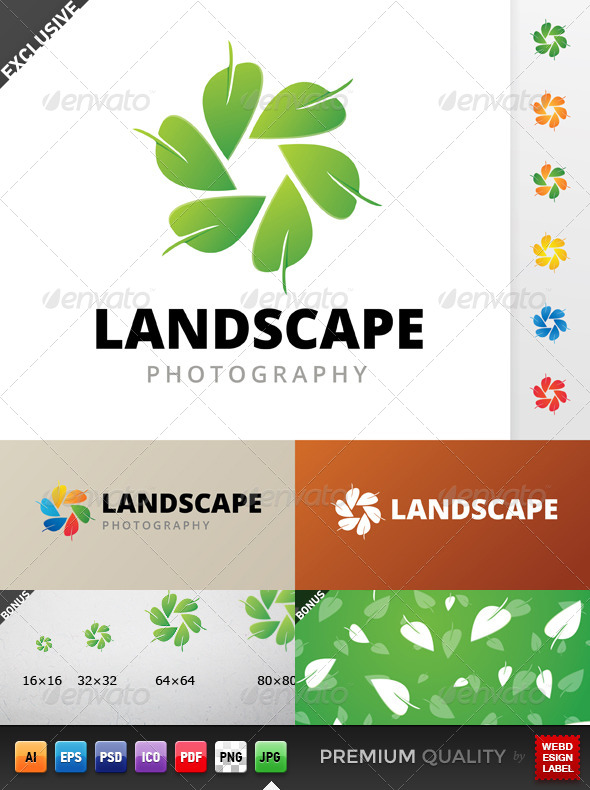 GraphicRiver Landscape Photography Logo 5561858