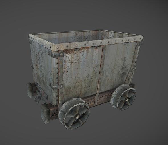 3DOcean Mine wagon cart 5561869