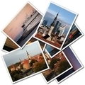 A collage of Tallinn Estonian photos on the white background - PhotoDune Item for Sale