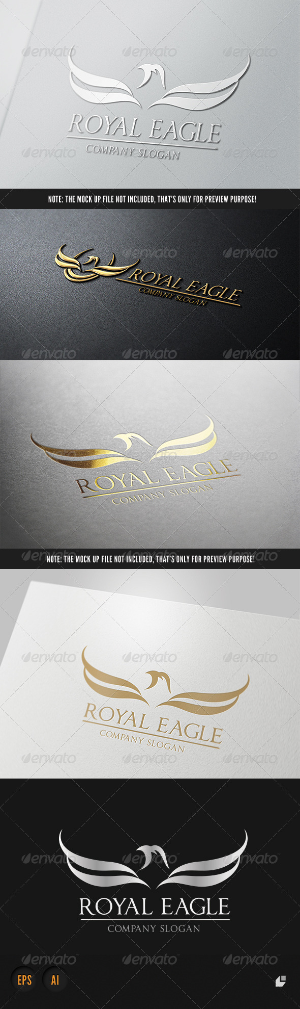 Royal Eagle Logo III - Crests Logo Templates