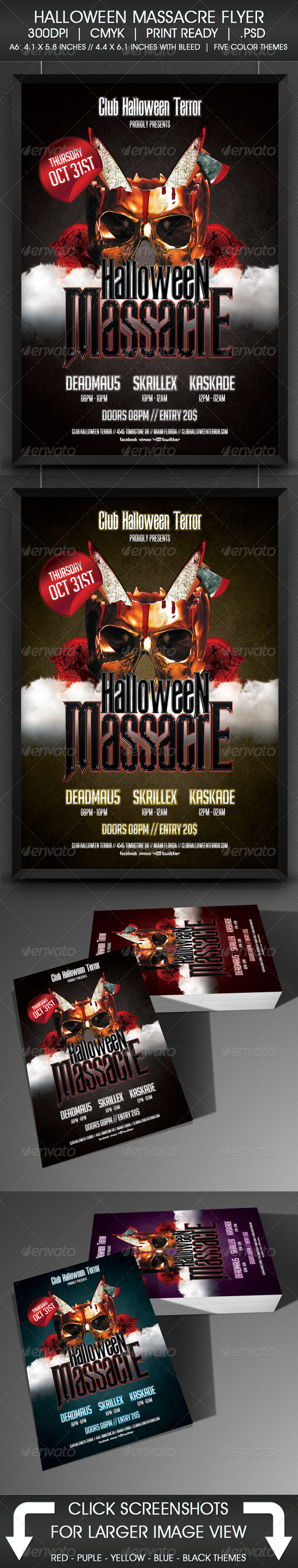 Halloween Massacre Flyer - Print Templates