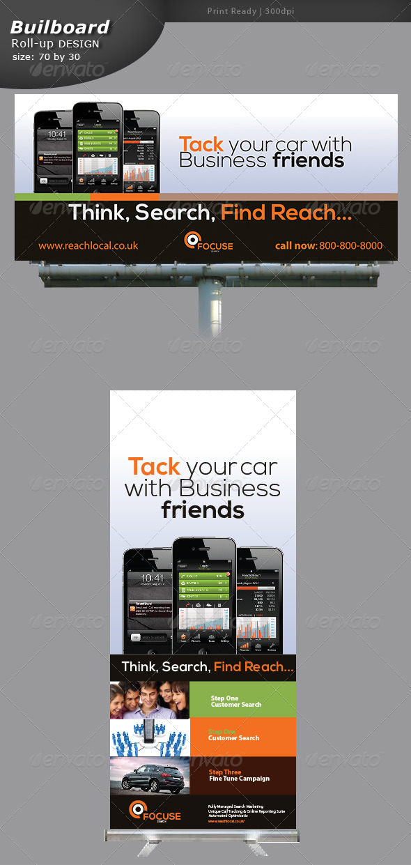 GraphicRiver Gps Billboard and Roll-up 5268535