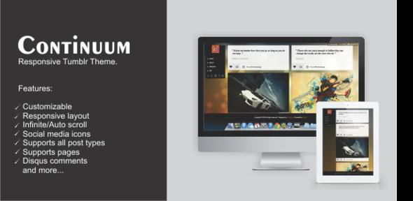Continuum – Responsive Tumblr Theme (Tumblr) images