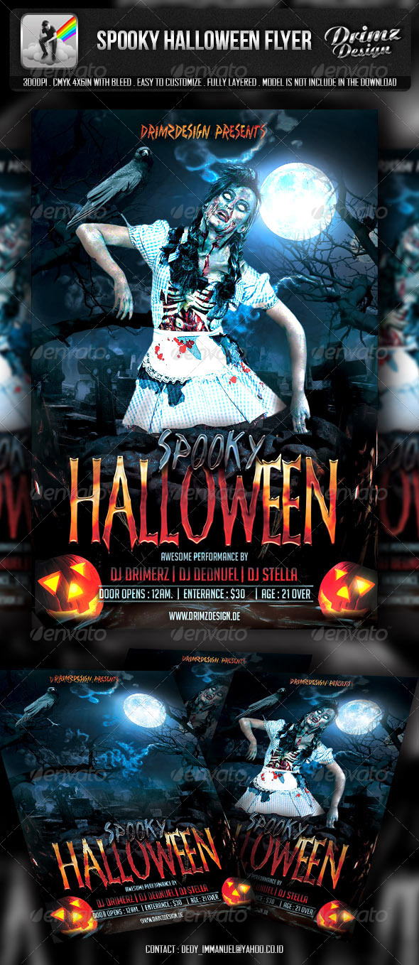 GraphicRiver Spooky Halloween Flyer 5562089