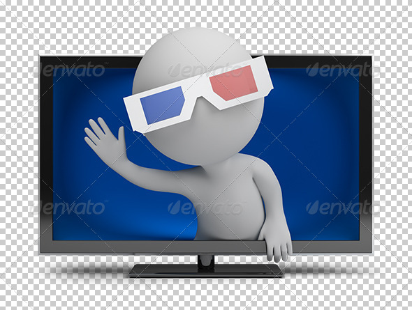 GraphicRiver 3D small people 3D TV 5562090