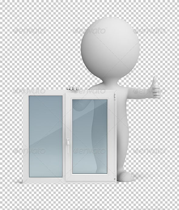 GraphicRiver 3D small people window 5562150