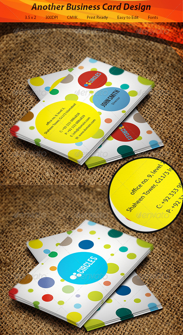 GraphicRiver Circles Business Card 5541247