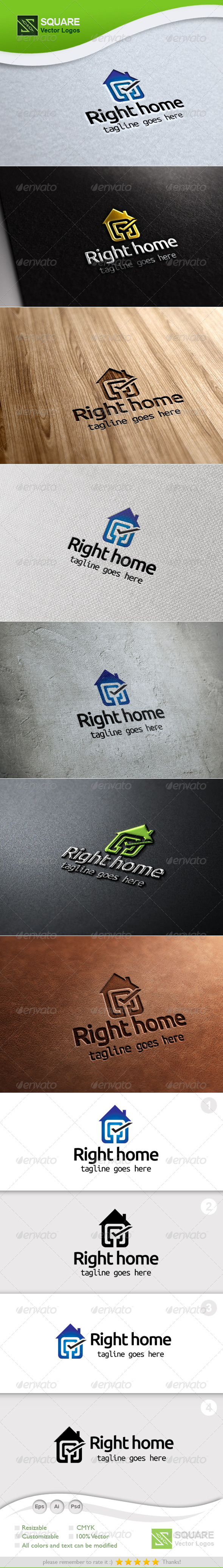 Tick, House Vector Logo Template - Symbols Logo Templates