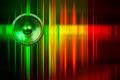 Music speaker and light streaks - PhotoDune Item for Sale