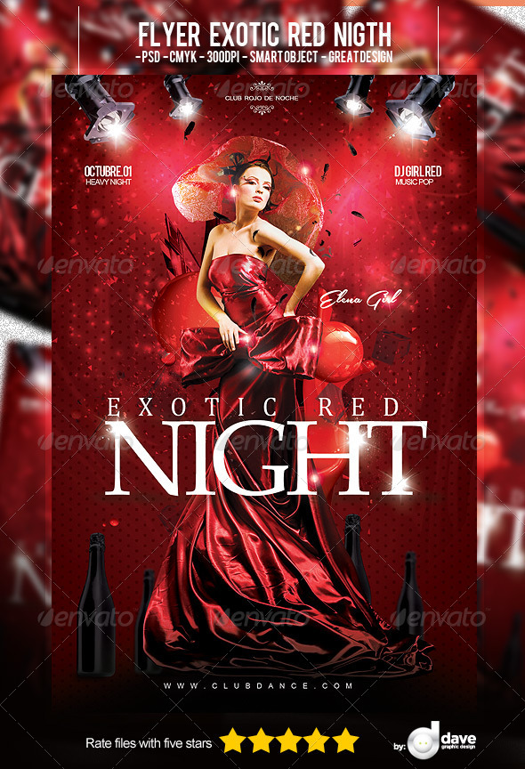 GraphicRiver Flyer Exotic Red Night 5562391
