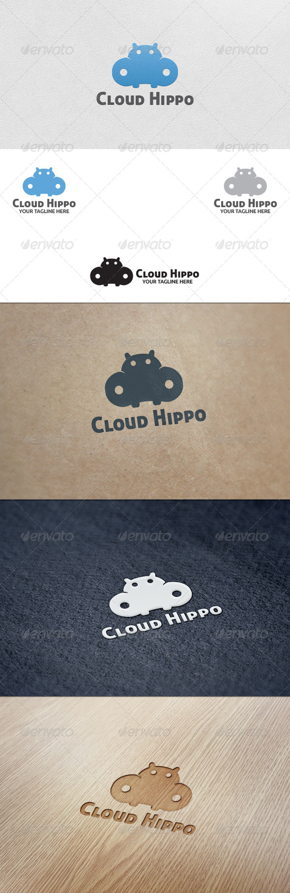 GraphicRiver Cloud Hippo Logo Template 5562426