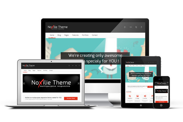 ThemeForest NoXilie Multipurpose Responsive HTML Template 5041099