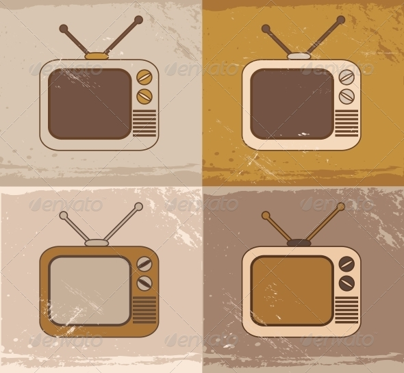 GraphicRiver Retro TV Set Icons 5562567