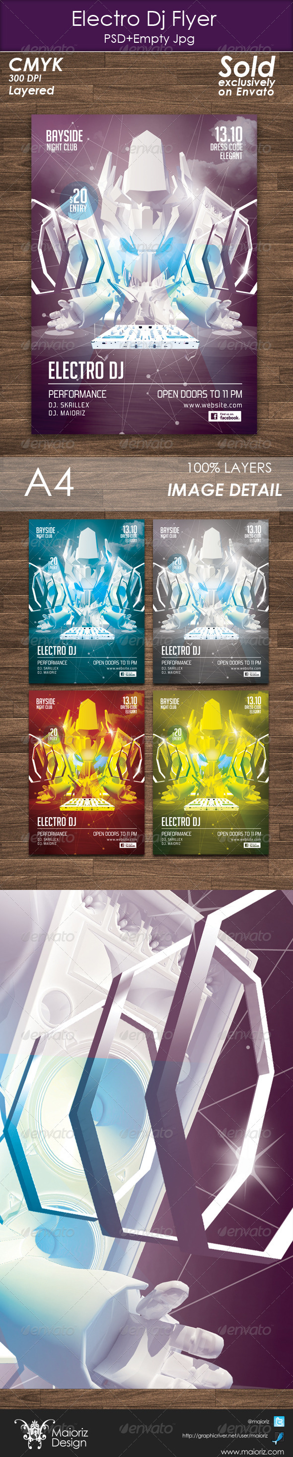 Electro Dj Flyer Template - Clubs & Parties Events