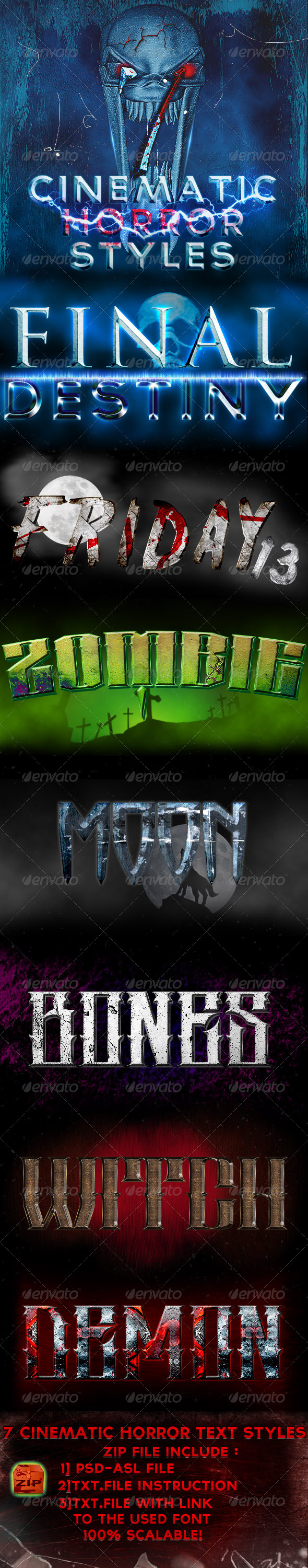 GraphicRiver Cinematic Horror Styles 5562647