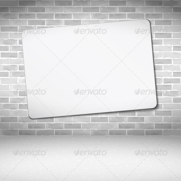 GraphicRiver Banner on Brick Wall 5562907
