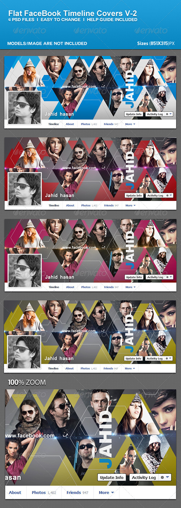 GraphicRiver Flat Facebook Timeline Covers V-2 5562941