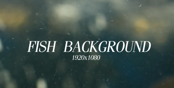 VideoHive Fish Background 5563047