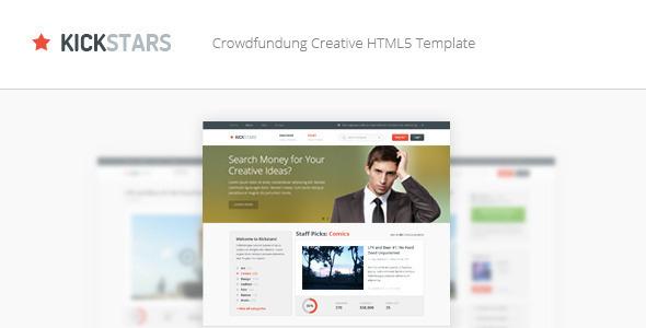 Kickstars - Crowdfunding HTML5 Template