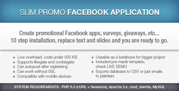 CodeCanyon Slim Promo Facebook Application 5563385