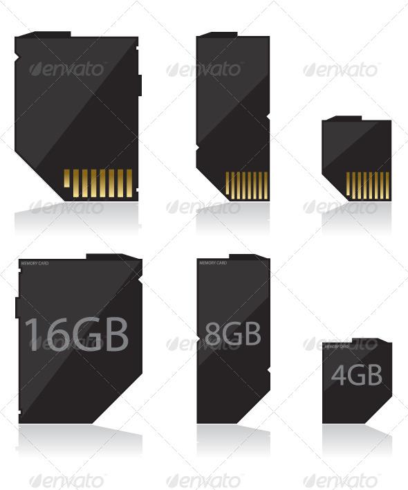 GraphicRiver Memory Card Black 5563441