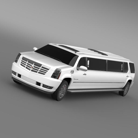 Cadillac Escalade Limo - 3DOcean Item for Sale
