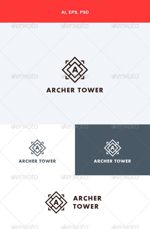 GraphicRiver Archer Tower Logo 5564037