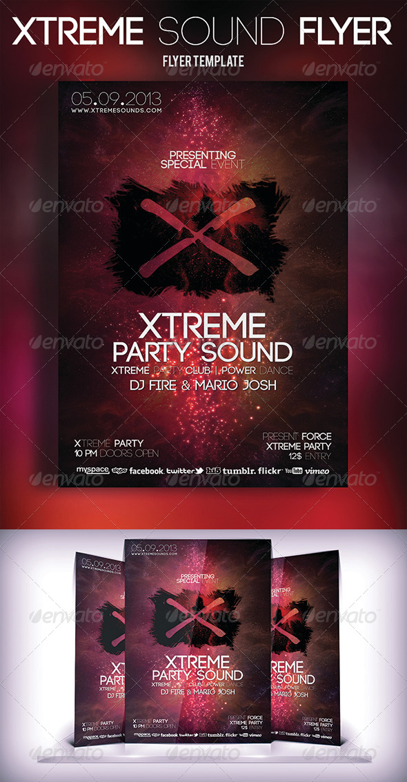 GraphicRiver Xtreme Sound Flyer 5564167