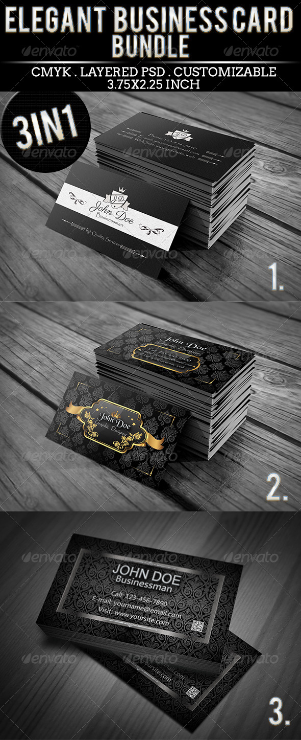 GraphicRiver Elegant Business Card Bundle #3 5543279