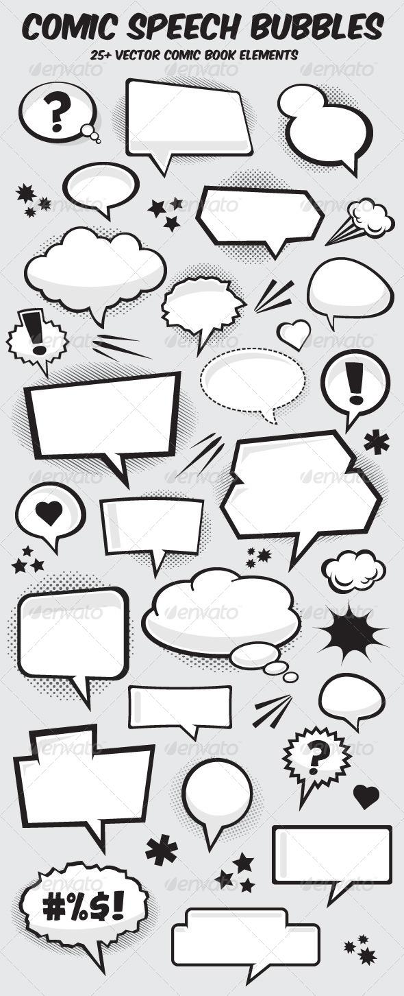 GraphicRiver Comic Book Vector Speech Bubbles 5532357