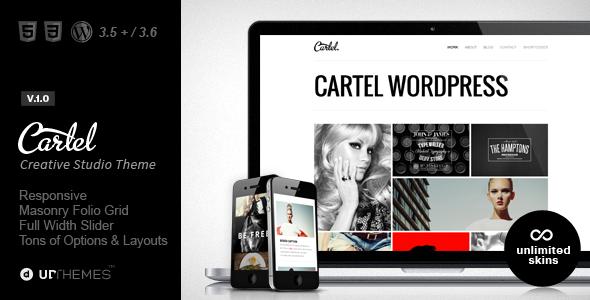 ThemeForest Cartel Responsive Portfolio WordPress Theme 5549276