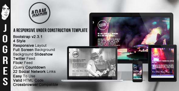 Adam - Responsive Under Construction Theme