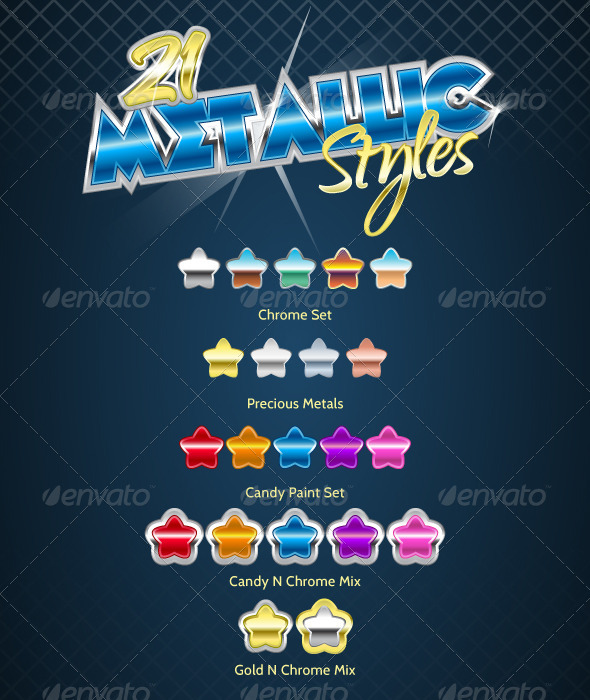 GraphicRiver 21 Metallic Styles 5550440