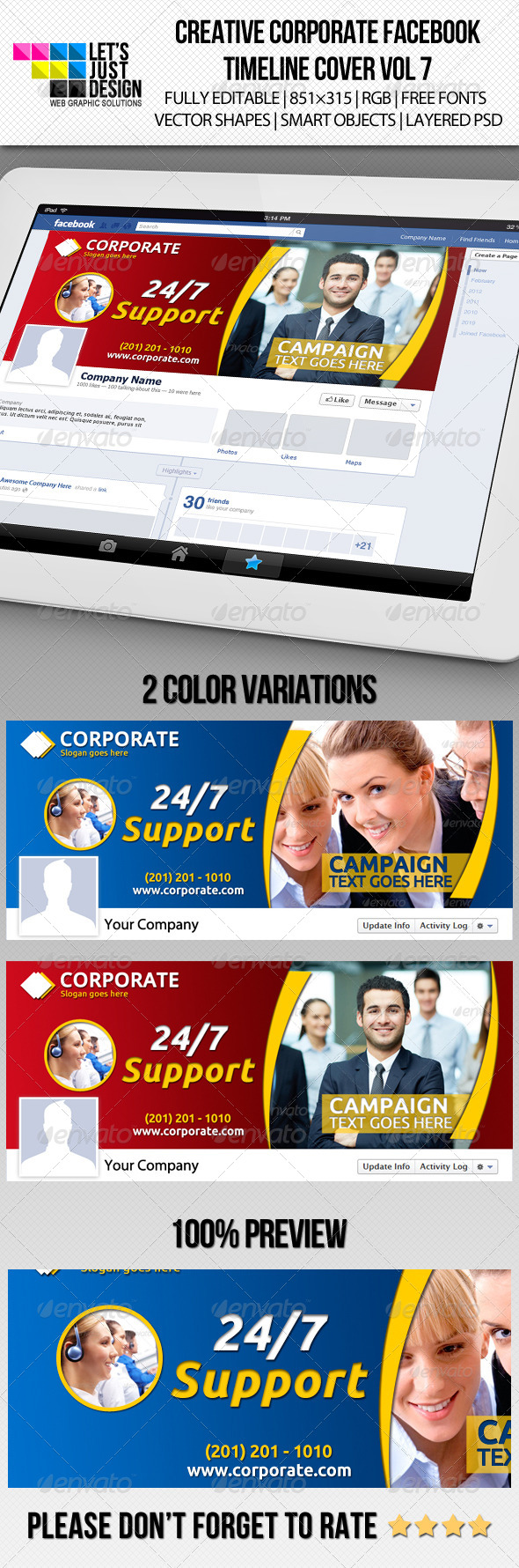 Creative Corporate Facebook Timeline Cover Vol 7 - Facebook Timeline Covers Social Media