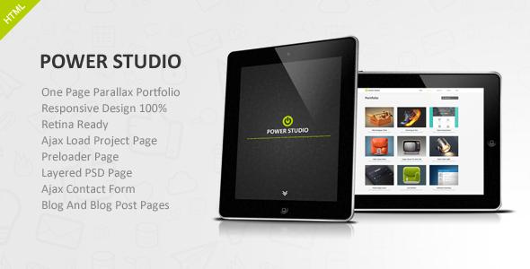 ThemeForest Power Studio One Page Parallax Portfolio 5564609