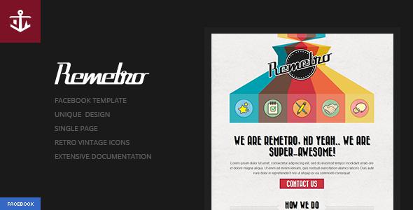 Remetro | Single Page Portfolio