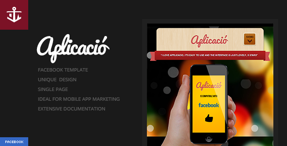 Aplicacio | iPhone App Showcase Facebook Template