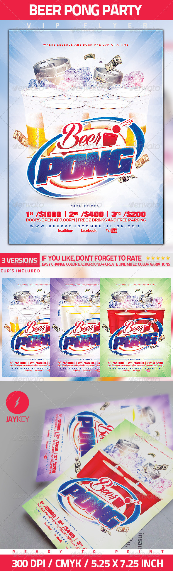 GraphicRiver Beer Pong Party Flyer 5565237