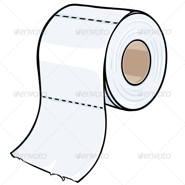 GraphicRiver Cartoon Toilet Paper 5565385